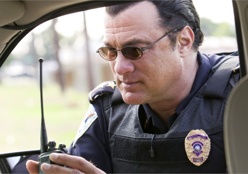 "Steven Seagal filming the ""Lawman"" reality show. Photo: A&E."