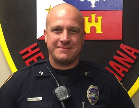 Cpl. Michael Paul Middlebrook of the Lafayette (LA) Police Department was killed in a convenience store shooting Sunday night. (Photo: Lafayette PD)