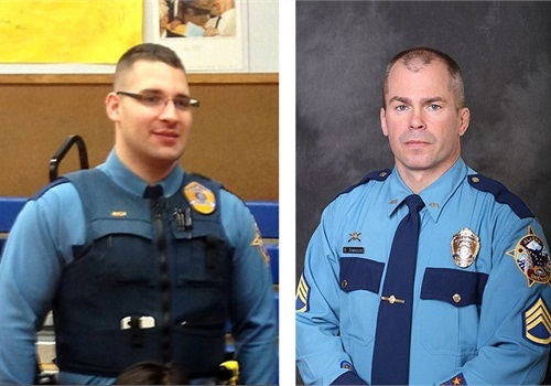 "(L-R) Trooper Gabriel ""Gabe"" Rich and Trooper Sgt. Patrick ""Scott"" Johnson (Photos: Alaska Department of Public Safety)"