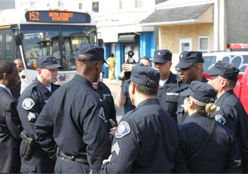 Camden County Metropolitan Police Department officers go on duty. (Photo: Camden County)