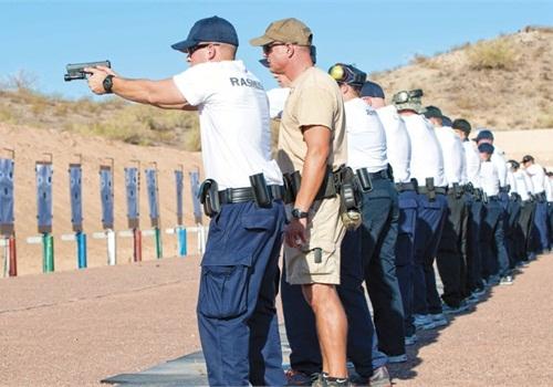 Police firearms training (Photo: Mark W. Clark)