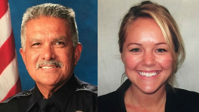 Officers Jose Gilbert Vega and Lesley Zerebny (Photo: Palm Springs PD)
