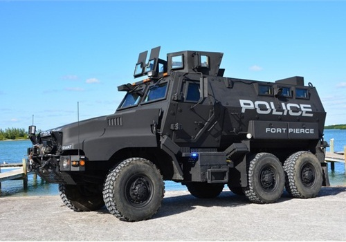 A DOD-loaned MRAP vehicle. (Photo: Fort Pierce PD)