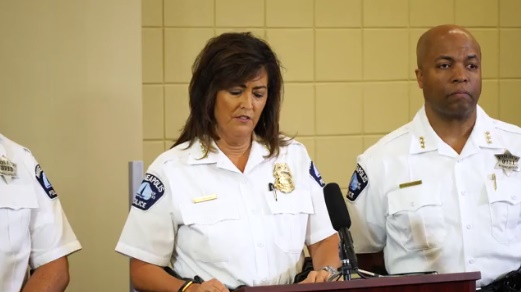 Minneapolis Police Chief Janeé Harteau speaks at Thursday press conference about the fatal shooting of Justine Damond. (Photo: Screenshot from Star-Tribune video)