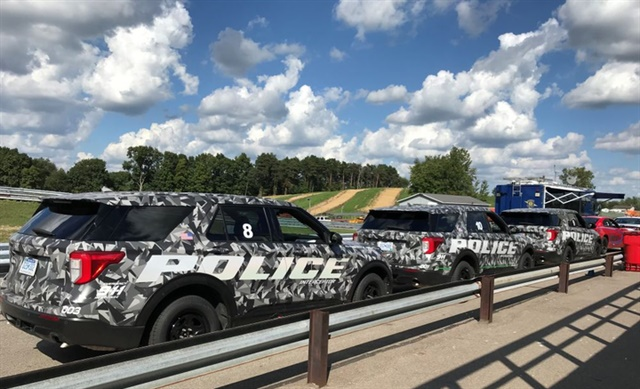 Shown are some Ford vehicles being tested by the Michigan State Police. Photo: Ford