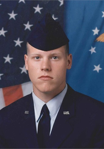Massachusetts State Police Trooper Matthew F. Daigle, shown during his service in the Air Force.