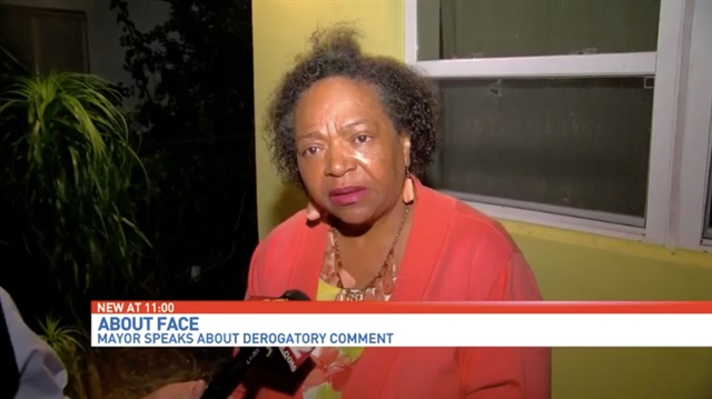 Stuart, FL, Mayor Eula Clarke admits to making a comment implying one of her officers was a pig. But she says she has high regard for law enforcement officers. (Photo: Screen shot from CBS 12 video)