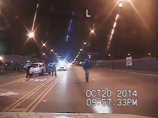 Still from dash cam video of the 2014 shooting of Laquan McDonald. (Photo: Chicago PD)