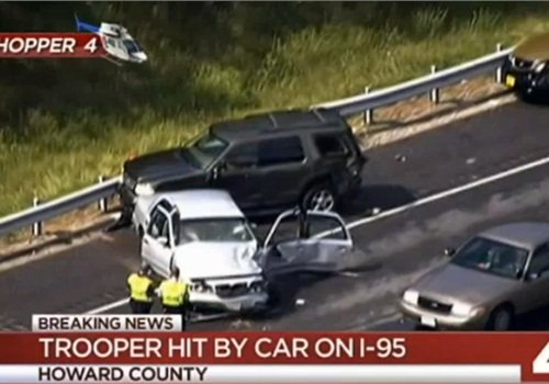 Maryland State Trooper Struck on I-95 by State Police Employee in