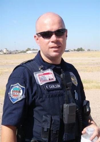 Officer Kurt Allen Carlson was killed in an off-duty motorcycle crash (Photo: Mesa PD)
