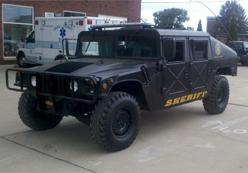 The Cabell County (W.Va.) Sheriff's Office acquired a Humvee via the 1033 program.