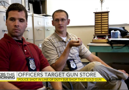 Officers Bryan Norberg and Graham Kunisch were awarded nearly $6 million in their lawsuit against a Milwaukee gun store. Appeals are expected. (Photo: CBS screenshot)