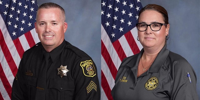 Deputy Jason Garner, 41, and community service officer Raschel Johnson, 42, were killed after the car they were in crashed. (Photo: Stanislaus County Sheriff)