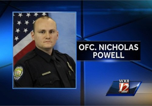 Officer Nicholas Powell was shot and dragged after a traffic stop. (Photo: WXII TV screen shot)