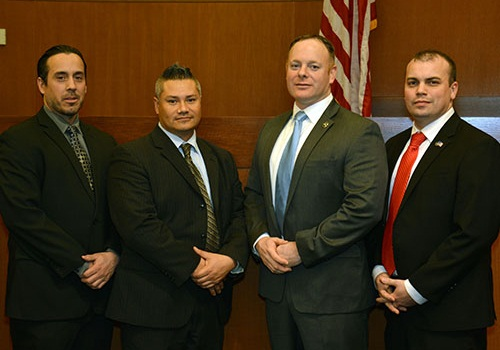 Left to right: DUSMs Frank Morales, Andrew Kottke, Michael Cifu and Matthew Barger PHOTO: NLEOMF