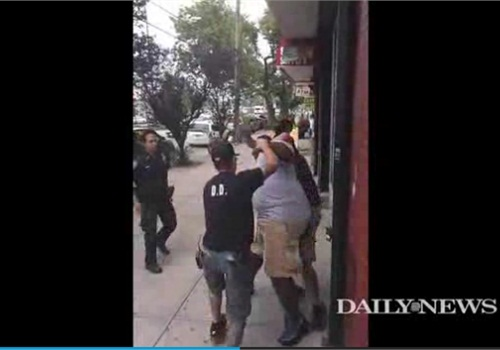 The Eric Garner incident. (Photo: Screen shot from NY Daily News video)
