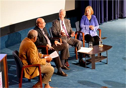 From left:Frank Bond, Det. Tom Lange (ret.), Rock Harmon and Dr. Jenifer Smith (Photo: NLEOMF)