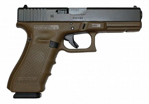 Glock's .40-caliber G22 is one of five offered in FDE. Photo: Lipsey's