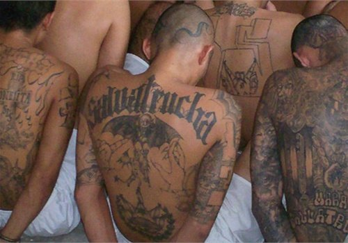Members of the MS-13 gang in prison. Photo: FBI