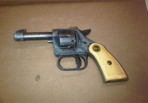 Steven Murray allegedly used this .22-caliber pistol to kill his 13-year-old half-sister. Photo: NYPD