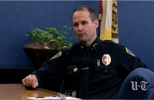 Assistant Chief David Nisleit, a 30-year veteran of the San Diego Police Department, has been named the department's next chief. (Photo: San Diego Union-Tribune video screen shot)