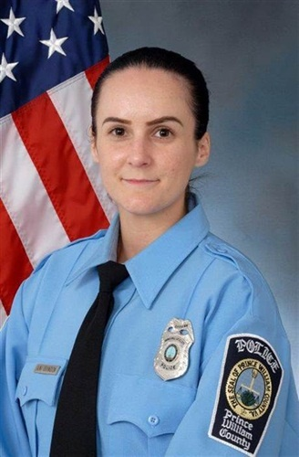 Officer Ashley Guindon was shot and killed on her first day on the job. She was assisting other officers on a domestic violence call. (Photo: Prince William County PD)