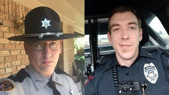 Patrolman James White, 35, and Cpl. Zach Moak, 31, were both taken to Kings Daughter's Medical Center, where they were pronounced dead. (Photo: Brookhaven PD)