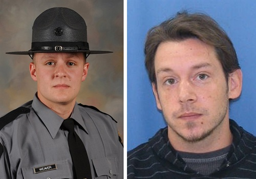 Pennsylvania Trooper Landon Weaver, 23, was reportedly shot and killed by Jason Michael Robison.