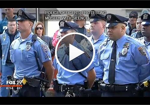 Video: Philadelphia Police Hold Vigil to Protest Cop