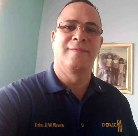 Lieutenant Waldemar Rivera-Santiago of the Puerto Rico Police Department was killed Monday on his way to the station.