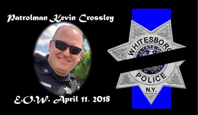 Officer Kevin Crossley was killed in a two-vehicle crash. Photo: Oneida County Sheriff's Office/Facebook