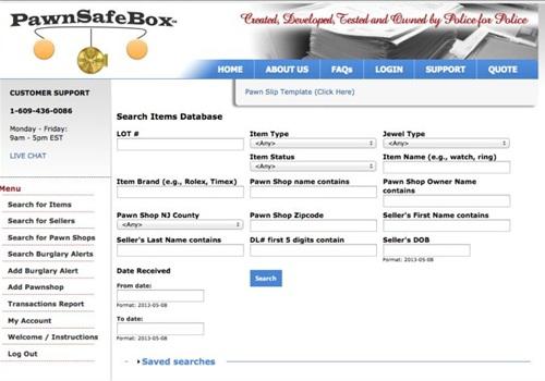 Screenshot courtesy of Pawn Safe Box.