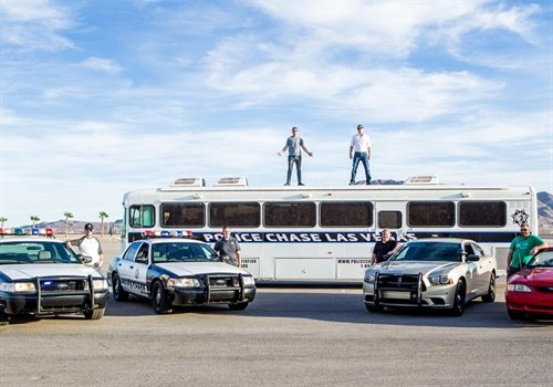 According to Las Vegas Now, the attraction allows people to participate in a simulated vehicle pursuit just a few miles from the Las Vegas Strip. Image courtesy of Police Chase Las Vegas / Facebook.
