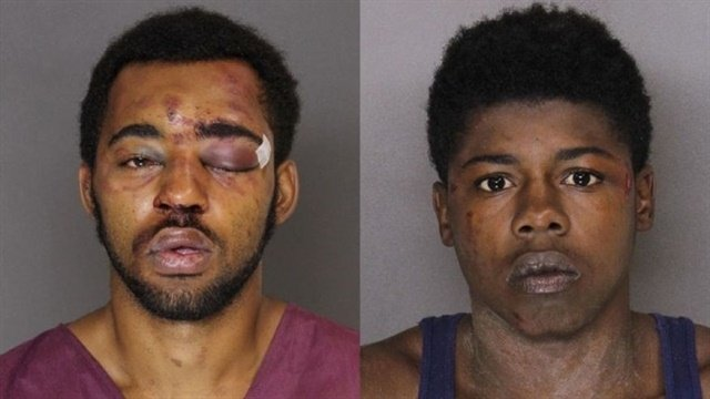 Police charged Joseph McInnis III, 21, and Tyree McCoy, 22, with armed robbery and theft, among other offenses. (Photo: Baltimore County PD)