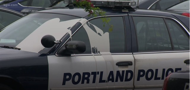 Authorities say paint was dumped on 22 Portland Police vehicles early Tuesday. (Photo: KGW Screen Shot)