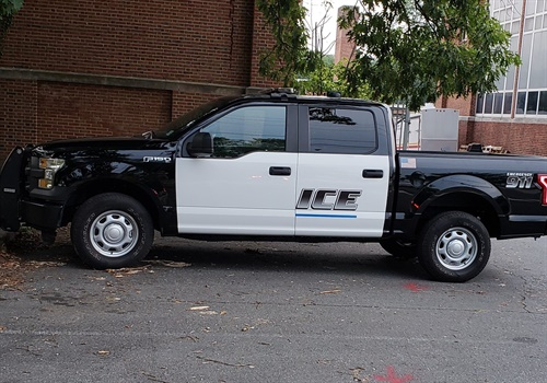 The Princeton (NJ) Police Department took to Facebook on Wednesday to declare to the citizens of that city that the agency is not Immigration Customs Enforcement. The post was made because someone — or perhaps many people — saw a recently repaired patrol vehicle that had not yet been fully outfitted with the department's decals. Image courtesy of Princeton (NJ) PD / Facebook.