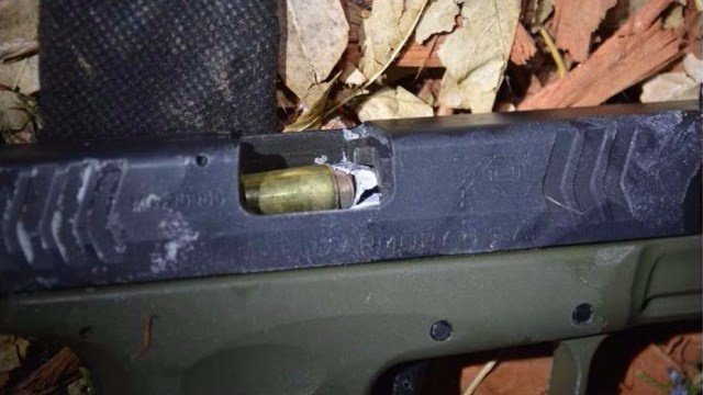 A Jefferson County Sheriff's deputy was attacked off duty and wounded. But in an exchange of fire, one of his bullets went down the barrel of the attacker's pistol. (Photo: Jefferson County SO)