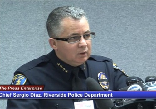 Riverside Police Chief Sergio Diaz. Screenshot via PE.com