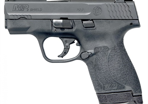 The new Shield features the M&P 2.0 trigger, and a 3.1-inch barrel. It's available with a choice of white-dot sights or tritium night sights.Options include integrated Crimson Trace laser sight. (Photo: Smith & Wesson)