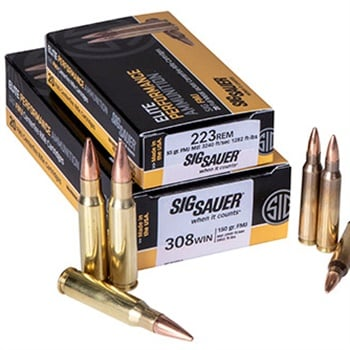 SIG 223 Rem and 308 Win full metal jacket (FMJ) rounds for training. Photo: SIG Sauer