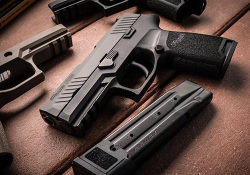 """We are honored that the Montgomery (AL) Police Department has chosen the P320 as their official duty firearm for its full complement of officers,"" said Tom Jankiewicz, Executive Vice President, Law Enforcement Sales, SIG Sauer Inc. Photo: SIG Sauer"