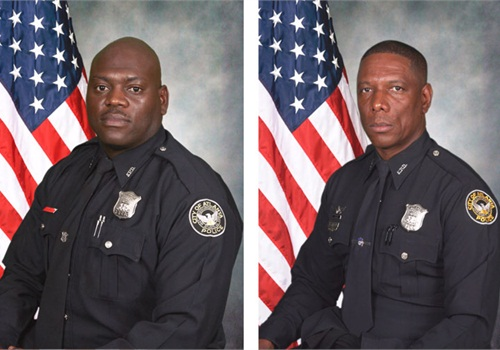 Atlanta Police Officers Shawn Smiley (left) and Richard Halford.