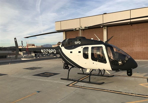 The Sacramento (CA) Police Department accepted delivery of the first law enforcement-configured Bell 505 Jet Ranger X. Photo: Bell Helicopter
