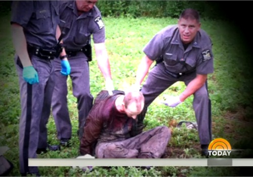 Escaped cop killer David Sweat was shot and captured by New York State Police Sgt. Jay Cook. (Photo: Screen Shot from NBC News)