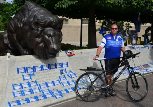 Sgt. Randy Crowther of the Orem (Utah) PD rode a Safariland Kona bicycle in the Police Unity Tour. Photo: Safariland