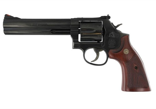 Smith & Wesson reintroduced its classic 586 .357 revolver in 4- and 6-inch (shown) barrel lengths. Photo: S&W