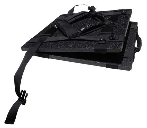 Instant Armor's Spartan Shield can be folded when not in use.