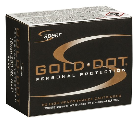 Speer Ammunition has announced its new 10mm Auto 200-grain load. Photo: Speer/Vista Outdoor