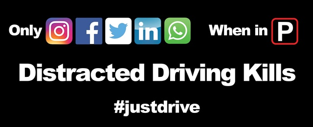 Stalker Radar encourages everyone to discuss the dangers of distracted driving with family, friends, and neighbors, and to share all #justdrive posts on social media. (Image: Stalker)
