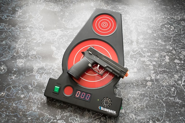 Blowback Laser Trainer practice gun and target (Photo: Blowback Laser Trainer)